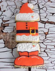 Santa Claus Naughty or Nice Cookies www.tamirenascookies.com