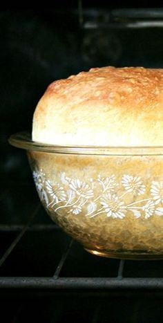 Peasant Bread ~ The Best Easiest Bread You Will Ever Make. It's a no-knead bread. It bakes in well-buttered pyrex bowls and it emerges golden and crisp. It's spongy and moist with a most-delectable buttery crust (bread recipes with yeast dinner rolls) Peasant Bread, Biscuit Bread, Bread Machine Recipes, Recipes For Bread, Artisan Bread Recipes, Cornbread Recipes, Jiffy Cornbread, Recipes Dinner, Soup Recipes