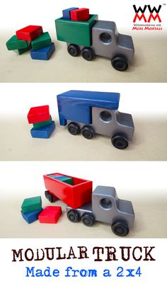 You only need a single 2x4 to make this truck system!