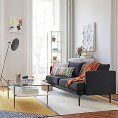 Shop Auburn sofa from west elm. Find a wide selection of furniture and decor options that will suit your tastes, including a variety of Auburn sofa. Narrow Bookshelf, Bookshelves, West Elm, Narrow Living Room, Living Rooms, Mid Century Sofa, Room Planning, Comfortable Sofa, Best Sofa