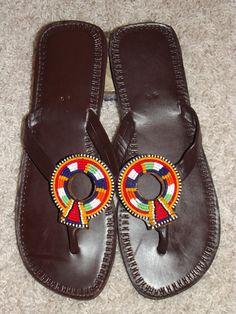 Kenyan African Sandals. $28.00, via Etsy.