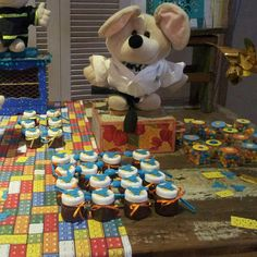 Nosso mascote também é tema de mesa decorada aqui no Miniland buffet Tatuapé 🎈 🎈