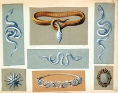 """Résultat de recherche d'images pour """"dessin serpent bijoux"""""""