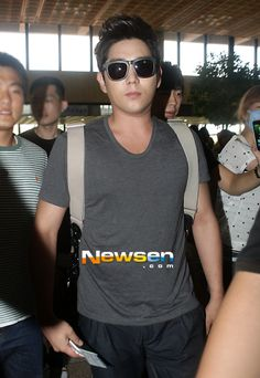 Super Junior's Kangin heads to Japan alone due to musical rehearsals Leeteuk, Kangin Super Junior, Kim Young, Forever Grateful, Kpop Boy, Pop Group, Shinee, My Boys, Boy Bands