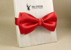 Red Shiny Satin Bow Tie - Valentine gift for man - Adult Bow Tie - Mens bowtie - Groomsman, Wedding Bow Tie - Gift for Him - Mr.DEER by MrDEERbowtie on Etsy https://www.etsy.com/listing/505862343/red-shiny-satin-bow-tie-valentine-gift