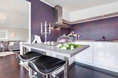 Purple and Black Kitchen Decor . 24 Fresh Purple and Black Kitchen Decor . Purple Kitchen — 14 Creative Ways to Decorate A Kitchen with Purple — Purple Rooms, Purple Walls, Purple Gray, Deep Purple, Gray Color, Kitchen Interior, Kitchen Decor, Kitchen Walls, Kitchen Modern