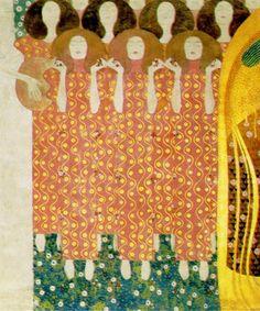Gustav Klimt -Beethoven Fries - Paradieschor Chorus of Paradise, 1902, Vienna    -klimt-