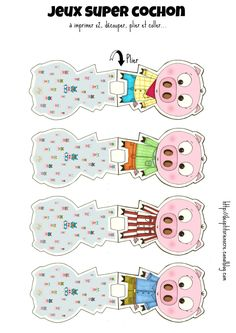 des p'tits riens - Page 9 - des p'tits riens Paper Puppets, Paper Toys, Social Emotional Activities, Printable Board Games, Kid Printables, Colors And Emotions, Wolf, Three Little Pigs, Busy Bags