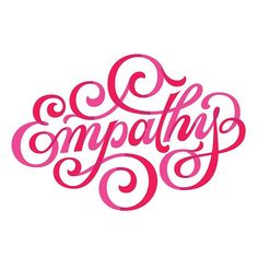 """Thanks to @creativemorning for having me illustrate this months theme. Empathy was selected by my home chapter in Phoenix! Hey guys! ✌️ With the theme in mind, I wanted to portray and evoke the growth and connectivity involved with """"empathy"""". I've found that empathy fuels connection so emphasizing those connecting points within the lettering was ideal."""