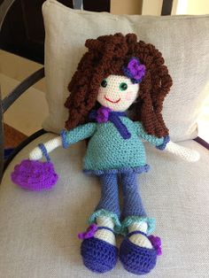 "Annoo's Crochet World: My ""look alike"" Doll Free Pattern"