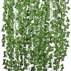 """National Tree 48"""" Artificial Arborvitae Plant with Green Pot - Walmart.com - Mod... - Modern Design Hanging Plant Wall, Hanging Garland, Greenery Garland, Leaf Garland, Fake Plants Decor, Ivy Plants, Plants Indoor, Fake Ivy, Ivy Wall"""