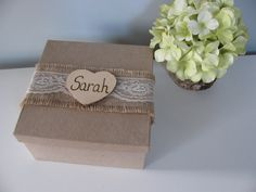 SALE Rustic Personalized Bridesmaid Gift Box Jewelry Keepsake Gift Box Chalkboard or Wood Tag Bride Ring Box You Personalize on Etsy, $9.00