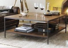 Sources for Square, Modern Wood & Steel Coffee Table? — Good Questions