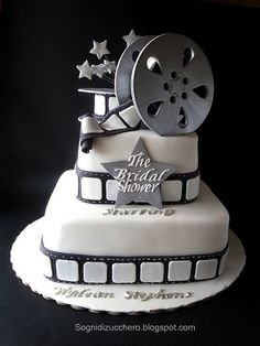 The Bridal shower: film reel cake | Maria Letizia Bruno | Flickr