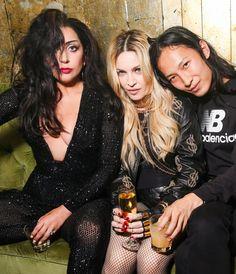 Lady Gaga, Madonna, and Alexander Wang