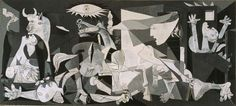 """Pablo Picasso, """"Guernica,"""" 1937 """"Did you do that?"""" a Nazi officer asked Picasso in front of Guernica. """"No,"""" Picasso is said to have replied, """"you did. Picasso Guernica, Picasso Paintings, Picasso Art, Oil Paintings, Painting Art, Picasso Images, Picasso Style, Art History, Frames"""