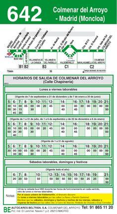 Autobus interurbano Madrid Valdemorillo 642 vta #MUN2asociacion