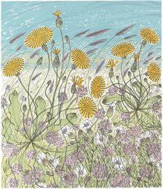 Angie Lewin- Saltmarsh, Morston - screen print