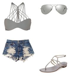 """""""💕"""" by melodyleighmitchell on Polyvore featuring Mikoh, Levi's, René Caovilla and Ray-Ban"""