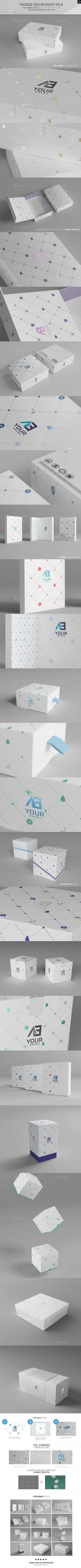 Package Box Mockups Vol6 - Have you ever done any packaging design project for companies producing the above products? If yes, why don't you use our packaging mockups to showcase your presentations to your clients.