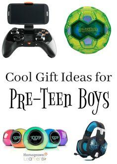 Cool Gift Ideas for Pre-Teen Boys