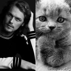 Sam Heughan and Cats