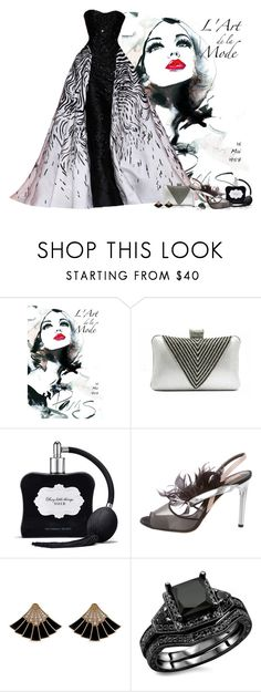 """""""Black and White Beauty"""" by love-n-laughter ❤ liked on Polyvore featuring Zuhair Murad, Victoria's Secret and Reed Krakoff"""