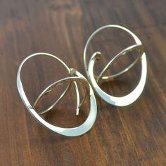confusio-silver-earrings-Au Sterling Silver Earrings, Silver Jewelry, Unique Earrings, Cool Designs, Jewelry Design, Handmade, Hand Made, Silver Jewellery, Handarbeit