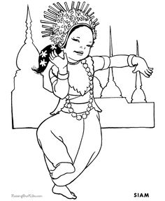 free printable coloring pages kids around the world coloring pages