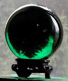 Forest Green Crystal Ball .Green gemstones are used to attract money, prosperity and wealth.
