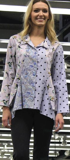 Butterick B6177 tunic sewing pattern by Katherine Tilton. As seen at the 2015 Sewing & Stitchery Expo.