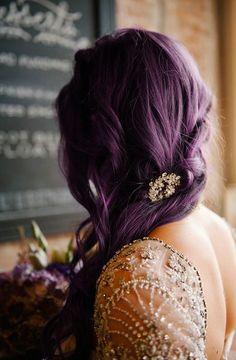 dark purple hair colour