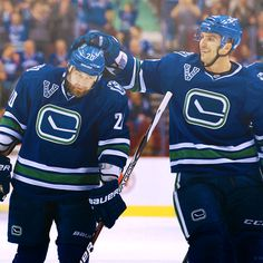 Chris Higgins and Maxim Lapierre Vancouver Canucks, My Passion, Nhl, Hockey, Bunny, Sports, Ice, Rabbit, Hare