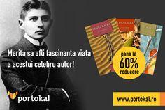 Franz Kafka a fost un scriitor de limbă germană din Praga. Operele sale conțin mesaje codificate, care generează deseori diferite intrepretări cu viziuni halucinante și grotești asupra realității. Intră pe http://goo.gl/vdkFxq și cumpără corespondențele marelui scriitor Franz Kafka, publicate în 3 volume, acum la reducere de până la 60% pe portokal.ro!  Merită să afli fascinanta viață a acestui celebru autor! #FranzKafka #Portokal