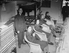 Women's Auxiliary Air Force, ( WAAF) telephone operators in the Operations Room at Duxford, September 1940.