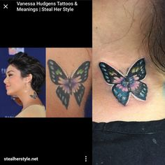 I would like to say that I don't usually copy other people's work, but this client came in and was obsessed with Vanessa Hudgens and wanted the same tattoo as her so as you see Vanessa's on the left and mine in the right .... shout out to the artist who originally did this on Vanessa and shout to Vanessa for getting tattooed