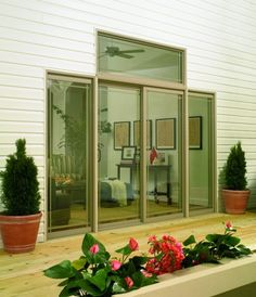 Is your patio door glass foggy? Does your patio door leak when it rains? Is your patio door difficult to open and close? If you answered yes to any of these questions, then it may be time to replace your patio door. Replacement Patio Doors, House Goals, Get Outside, Glass Door, Porch, Deck, Outdoors, Windows, Courtyards