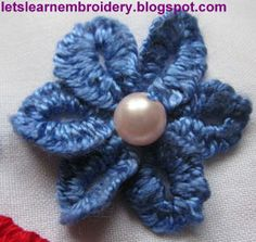 Let's learn embroidery: Buttonhole knot flower-double