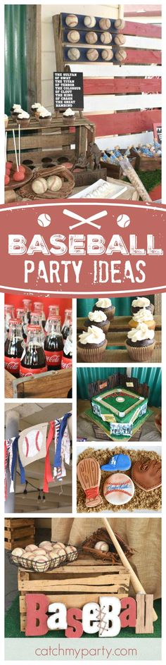 out this awesome 'The Sandlot' baseball birthday party! The baseball cookies are fantastic! See more party ideas and share yours at Baseball Birthday Party, Sports Birthday, Sports Party, Boy Birthday Parties, 5th Birthday, Birthday Ideas, Cake Birthday, Birthday Decorations, Vintage Baseball Party