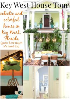 """Tour a colorful and fun Key West, Florida house that is currently for sale.  The house includes many unique features, accent walls and is great inspiration for many possible DIY ideas.  What do you think it""""s listed for?"""