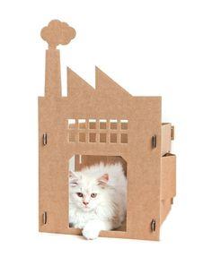 Think.BigChief   Cardboard Crib for cats