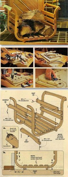 DIY Firewood Carrier - Woodworking Plans and Projects | WoodArchivist.com