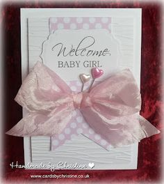 New Baby Girl Card - Such an easy card to make