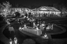 Nighttime soiree at the Doris Duke Center by Kevin Milz Photography https://gardens.duke.edu/rentals/weddings