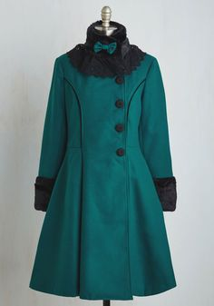 Book Tour Bliss Coat in Teal. When you wear this teal swing coat to your book signing, your elegant style garners as much acclaim as your new novel! #blue #modcloth