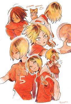Kenma Kozume, Kuroken, Manga Anime, Anime Art, Haikyuu Fanart, Haikyuu Anime, Hinata, Arte Sketchbook, Fan Art