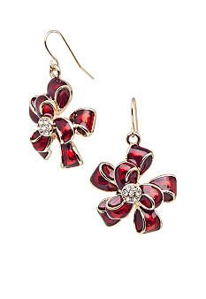 Kim Rogers® Red Holiday Ribbon Earrings