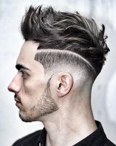 Classy Line Design Hairstyle for Men
