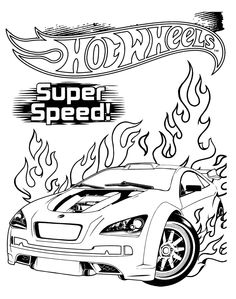 Hot Wheels Super Speed Coloring Pages