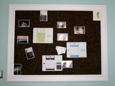 Get organized and inspired with this easy-to-construct memo board on HGTV.com.